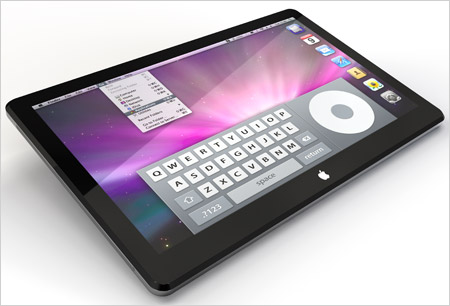 Apple tablet multi-touch 2010