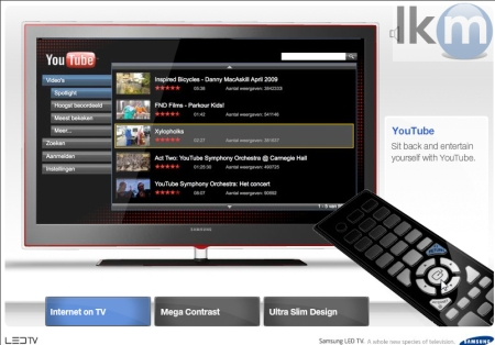 Youtube XL - Samsung LED TV